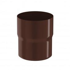 Соединитель трубы Aquasystem Pural 100 мм RAL 8017 (шоколадно-коричневый)