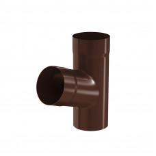 Тройник трубы Aquasystem Pural 100 мм RAL 8017 (шоколадно-коричневый)