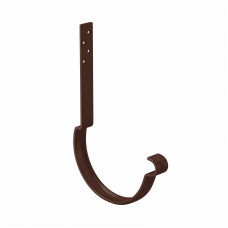 Крюк желоба длинный усиленный L-250 мм Aquasystem Pural D150 мм RAL 8017 (шоколадно-коричневый)