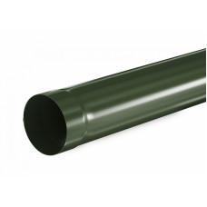 Труба водосточная круглая Aquasystem Pural 90 мм RR 11 (темно-зеленый) 3 м