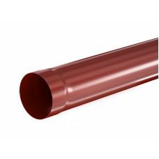 Труба водосточная круглая Aquasystem Pural 90 мм RR 29 (красный) 3 м