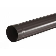 Труба водосточная круглая соединительная Aquasystem Pural 90 мм RR 32 (темно-коричневый) 1 м