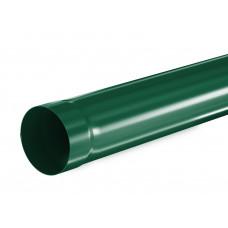 Труба водосточная круглая соединительная Aquasystem Pural 90 мм RAL 6005 (зеленый мох) 1 м