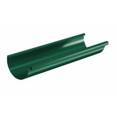 Желоб водосточный полукруглый Aquasystem Pural 125 мм RAL 6005 (зеленый мох) 3 м