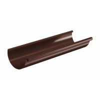 Желоб водосточный полукруглый Aquasystem Pural 125 мм RAL 8017 (шоколадно-коричневый) 3 м