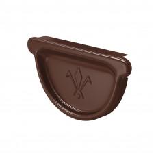 Заглушка желоба универсальная Aquasystem Pural 125 мм RAL 8017 (шоколадно-коричневый)