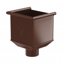 Воронка водосборная Aquasystem Pural MATT 150/100 мм RAL 8017 (шоколадно-коричневый)