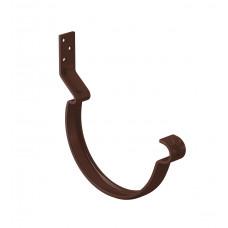 Крюк желоба короткий усиленный L-190 мм Aquasystem Pural MATT D150 мм RAL 8017 (шоколадно-коричневый)