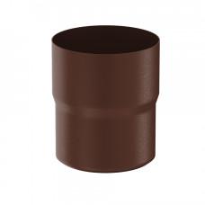 Соединитель трубы Aquasystem Pural MATT 100 мм RAL 8017 (шоколадно-коричневый)