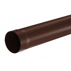 Труба водосточная круглая соединительная Aquasystem Pural MATT 100 мм RAL 8017 (шоколадно-коричневый) 1 м