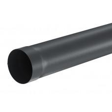 Труба водосточная круглая Aquasystem Pural MATT 100 мм RR 23 (серый) 3 м