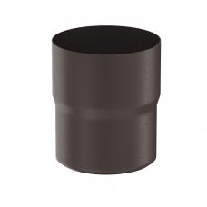 Соединитель трубы Aquasystem Pural MATT 100 мм RR 32 (темно-коричневый)