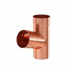 Тройник трубы Aquasystem Медь 100 мм