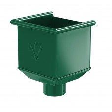 Воронка водосборная Aquasystem Pural 125/90 мм RAL 6005 (зеленый мох)