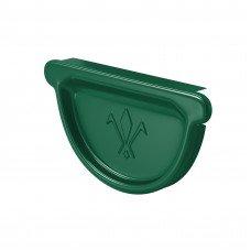 Заглушка желоба универсальная Aquasystem Pural 125 мм RAL 6005 (зеленый мох)