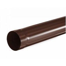 Труба водосточная круглая соединительная Aquasystem Pural 90 мм RAL 8017 (шоколадно-коричневый) 1 м