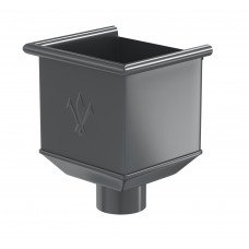 Воронка водосборная Aquasystem Pural MATT 125/90 мм RR 23 (серый)