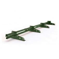 Снегозадержатель трубчатый овальный Русь D-Bork D-45х25 мм 3 м RAL 6020 хромовый зеленый