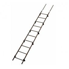 Кровельная лестница Grand Line L-3000 мм (с кронштейнами) RAL 8017