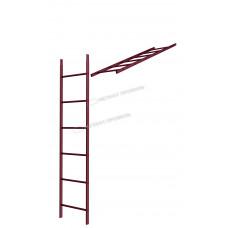 Кровельная/фасадная лестница Металл Профиль L-1,86 м (без кронштейнов) RAL 3005