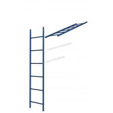 Кровельная/фасадная лестница Металл Профиль L-1,86 м (без кронштейнов) RAL 5005