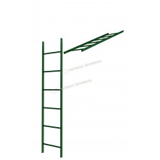 Кровельная/фасадная лестница Металл Профиль L-1,86 м (без кронштейнов) RAL 6005