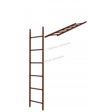 Кровельная/фасадная лестница Металл Профиль L-1,86 м (без кронштейнов) RAL 8017