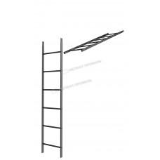 Кровельная/фасадная лестница Металл Профиль L-1,86 м (без кронштейнов) RAL 9005