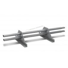 Снегозадержатель трубчатый овальный Металл Профиль 1 м RAL 7004 сигнальный серый