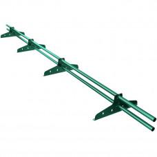 Снегозадержатель трубчатый круглый Borge New Line D-25 мм 3 м RAL 6005 зеленый