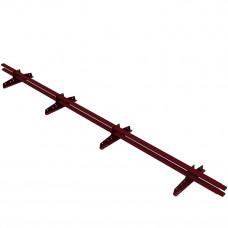 Снегозадержатель трубчатый овальный Borge New Line D-40х20 мм 3 м RAL 3005 красный