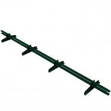 Снегозадержатель трубчатый овальный Borge New Line D-40х20 мм 3 м RAL 6005 зеленый