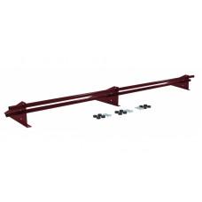 Снегозадержатель универсальный трубчатый Grand Line Optima 3 м RAL 3005 красный