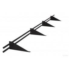 Снегозадержатель трубчатый круглый Русь D-25 мм 3 м RAL 7024 темно-серый