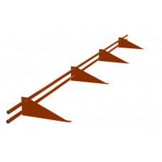 Снегозадержатель трубчатый круглый Русь D-25 мм 3 м RAL 8004 терракотовый