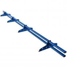 Снегозадержатель трубчатый овальный Borge Русский Рубеж D-40х20 мм 3 м RAL 5005 синий