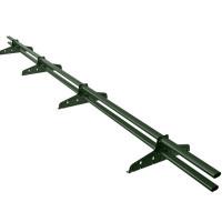 Снегозадержатель трубчатый овальный Borge Русский Рубеж D-40х20 мм 3 м RR 11 темно-зеленый
