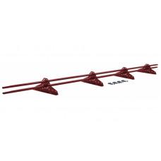 Снегозадержатель трубчатый овальный Grand Line NEW 3 м RAL 3011 коричнево-красный