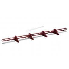 Снегозадержатель трубчатый овальный Металл Профиль 3 м RAL 3011 коричнево-красный