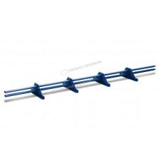 Снегозадержатель трубчатый овальный Металл Профиль 3 м RAL 5005 синий