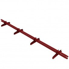 Снегозадержатель трубчатый овальный Borge New Line D-40х20 мм 3 м RAL 3011 коричнево-красный