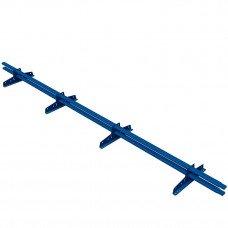 Снегозадержатель трубчатый овальный Borge New Line D-40х20 мм 3 м RAL 5005 синий