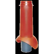 Канализационный выход изолированный Krovent Pipe-VT 110 IS мм Красный