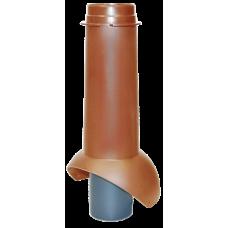 Канализационный выход изолированный Krovent Pipe-VT 110 IS мм Красно-коричневый