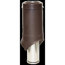 Вентиляционный выход изолированный Krovent Pipe-VT IS 125 мм Коричневый