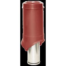 Вентиляционный выход изолированный Krovent Pipe-VT IS 125 мм Красный