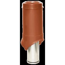 Вентиляционный выход изолированный Krovent Pipe-VT IS 125 мм Красно-коричневый