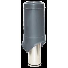 Вентиляционный выход изолированный Krovent Pipe-VT IS 125 мм Серый