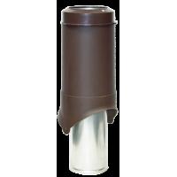 Вентиляционный выход изолированный Krovent Pipe-VT IS 150 мм Коричневый
