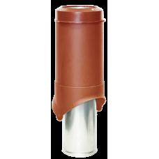 Вентиляционный выход изолированный Krovent Pipe-VT IS 150 мм Красно-коричневый